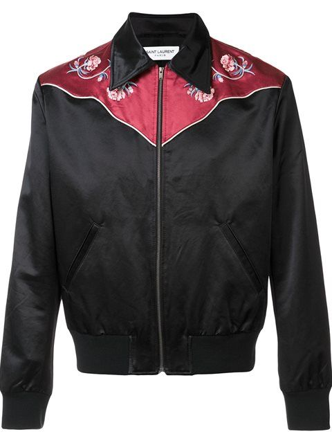df9c2464b Shop Saint Laurent Western bomber jacket in Maxfield from the ...