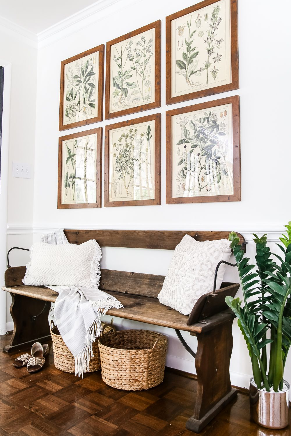 Botany Printable Art and a Wall Decor Hanging Trick | Hanging ...