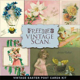 Freebies Vintage Easter Post Cards