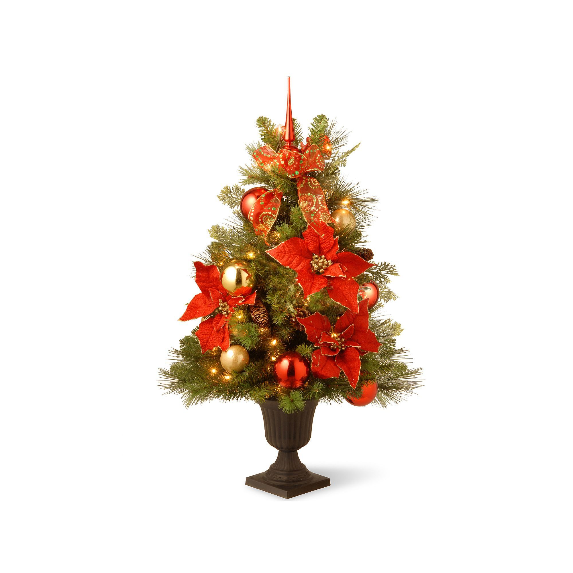 national tree company 3 ft artificial home for the holidays entrance christmas tree small christmas treeslighted - Small Christmas Trees With Lights