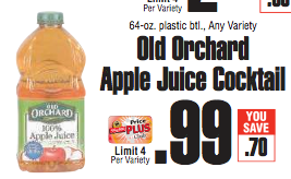 ShopRite Get FREE Old Orchard Apple Juice Cocktail with