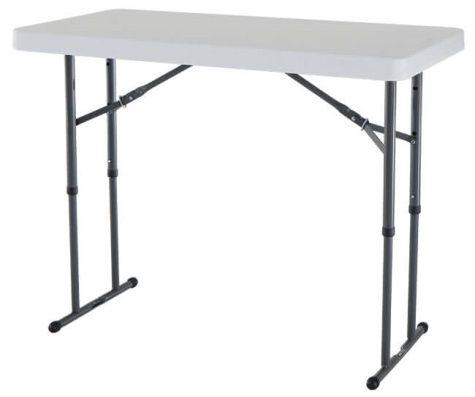 Lifetime 4 Foot Adjustable Height Table Commercial Adjustable Height Table Folding Table Folding Table Legs
