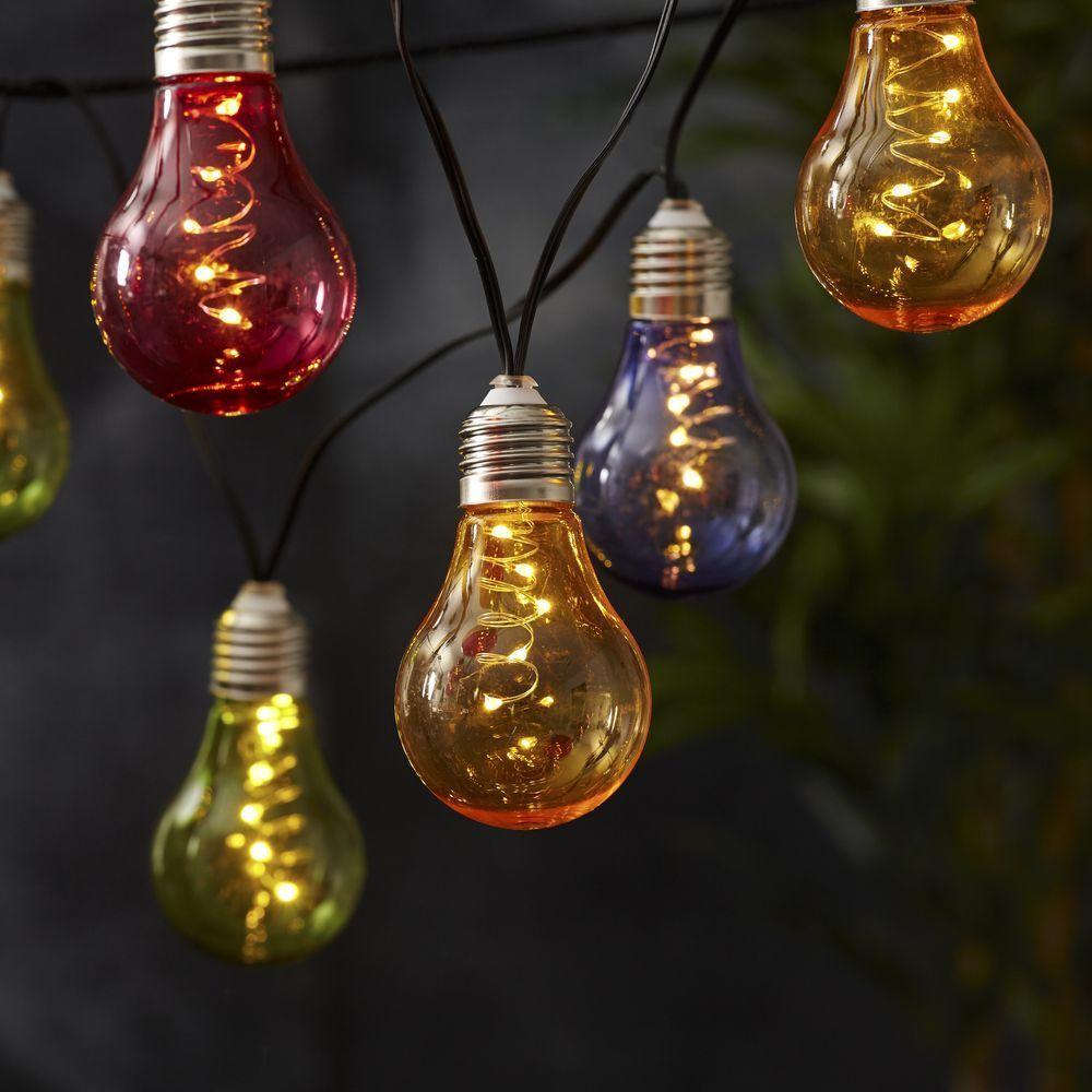 Solar Lichterkette Partylichterkette Garten Solarleuchte Leuchte LED Gartenlampe