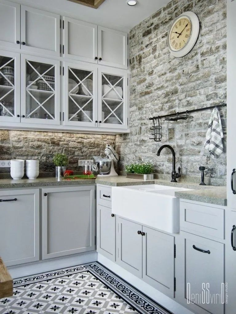 20+ Elegant Farmhouse Kitchen Cabinet Makeover Design Ideas That Very Cozy