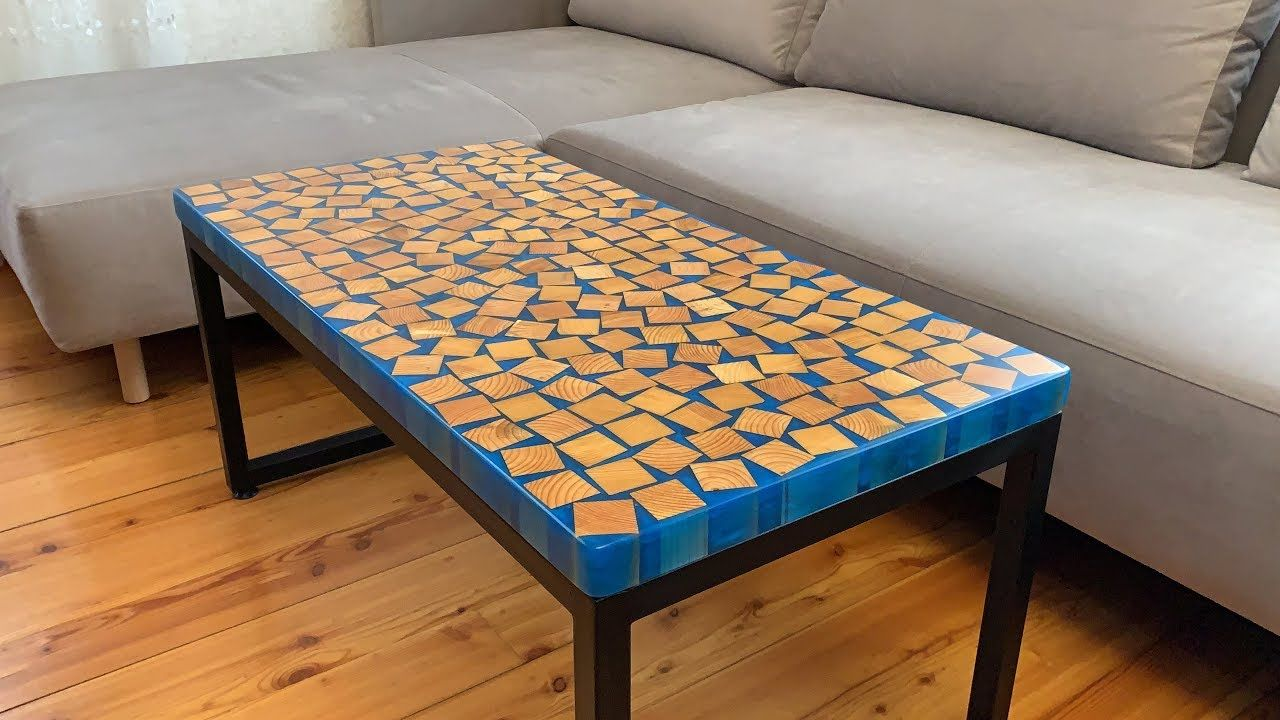 Coffee table with epoxy resin Homemade Coffee table