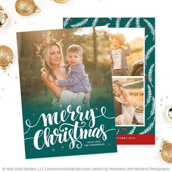 Christmas Card Template For Photographers Christmas Photo Card