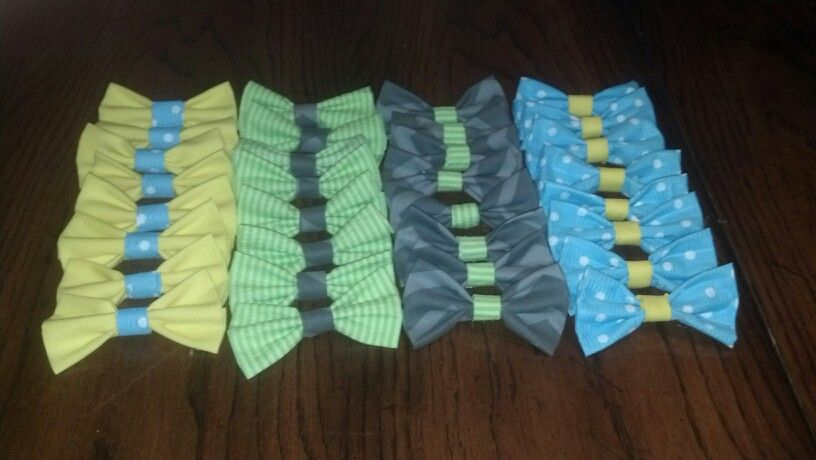 Homemade no sew bowties for my little man 1st birthday party!