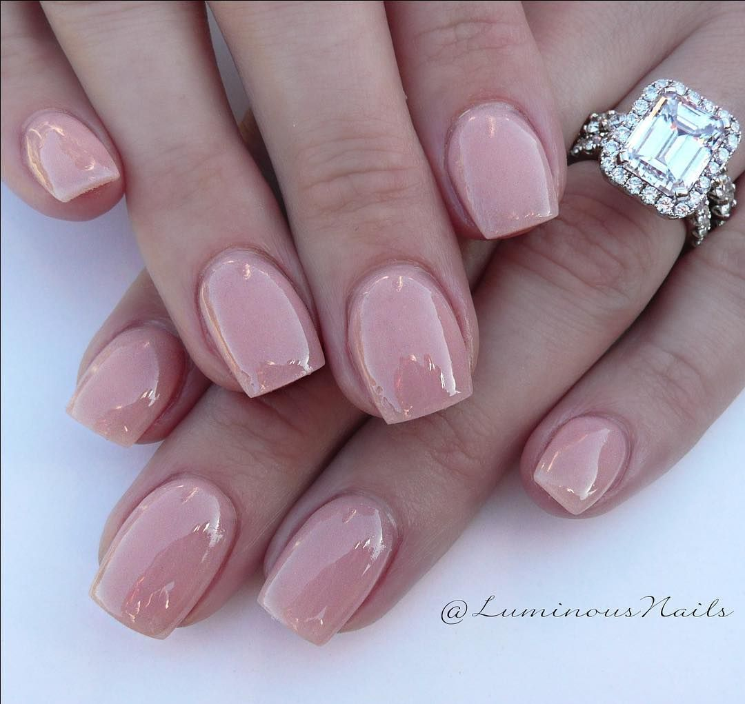 Acrylic Overlay With Young Nails Cover Pink Clic Neatntidy Practical Cute Shiny Glossy Acrylicnails Luminous Luminousnails