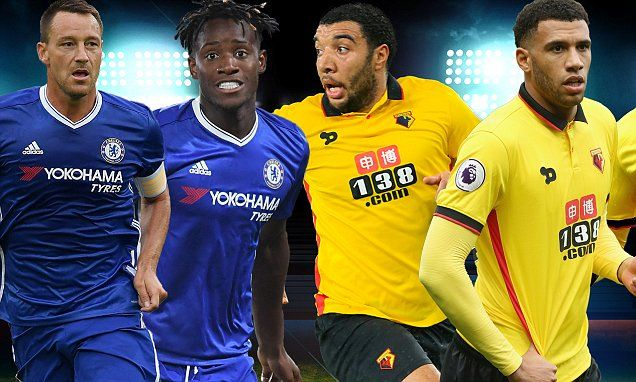 Chelsea v Watford, LIVE Follow the Premier League action Watford - sample football score sheet