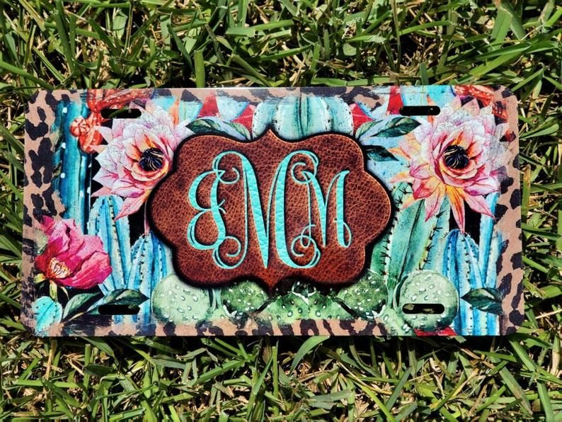 Custom Front License Plate Personalized Cow Print License Plate Personalized Car Accessories Front License Plate Monogram License Plate