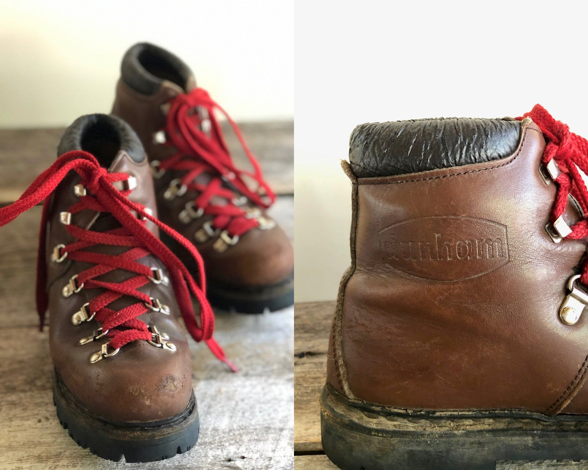 Vintage 80s Leather DUNHAM HIKING Boots