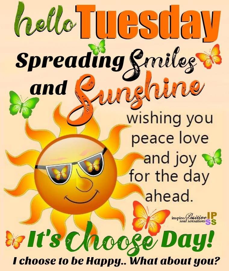 Smiles And Sunshine Happy Tuesday Tuesday