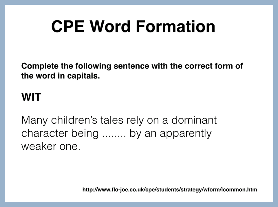 Sentence Transformation | English flashcards