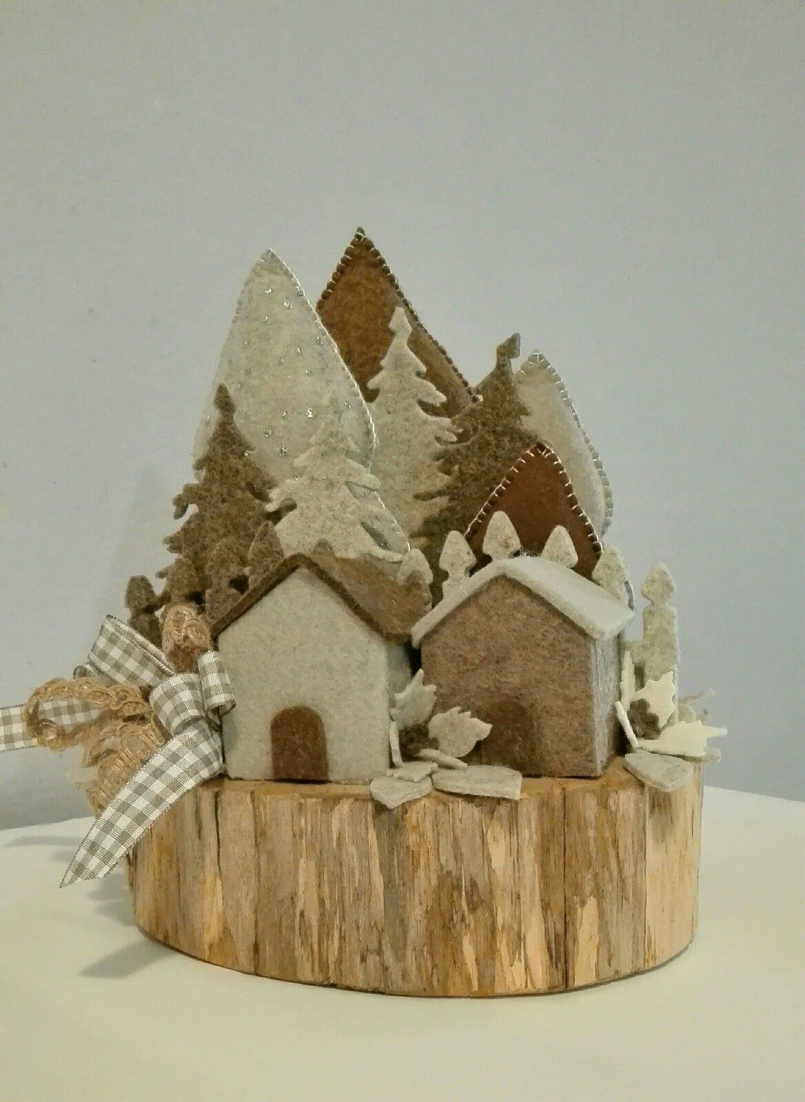 Paesaggio invernale natale rustico ornamento di for Ornamenti casa