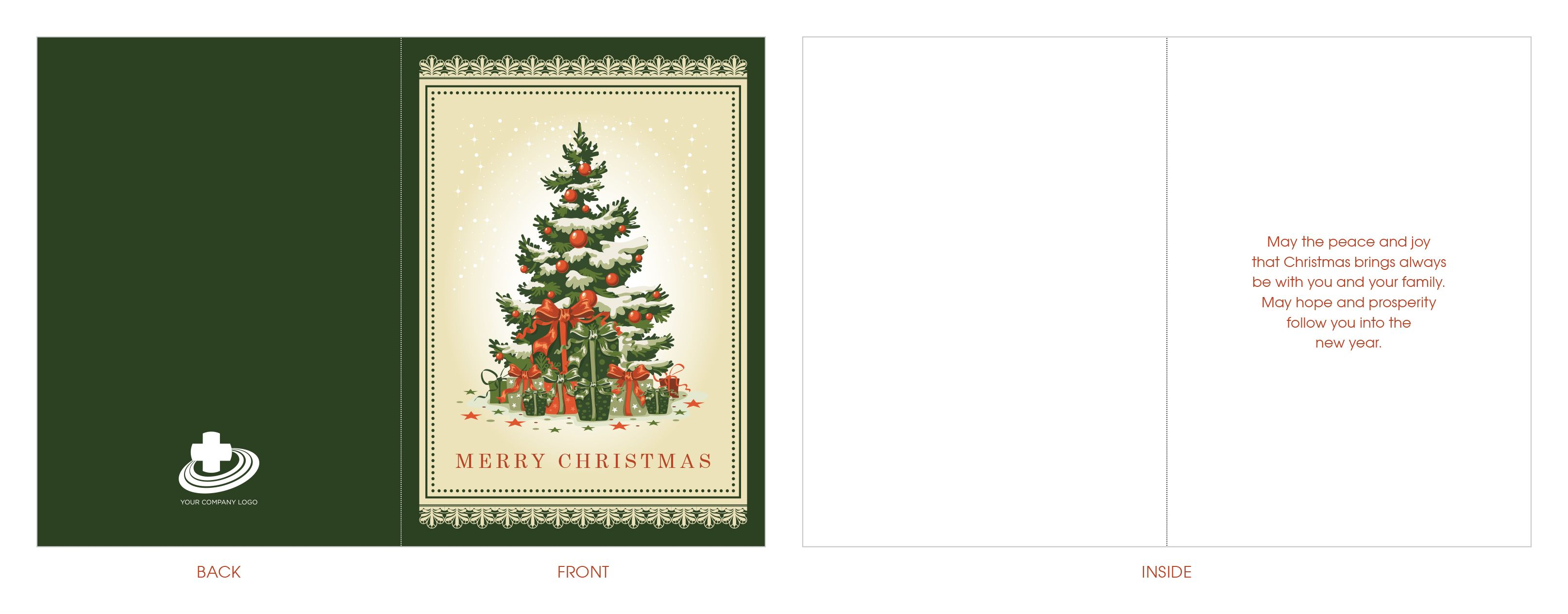 """Need a corporate Christmas card? Vintage 4""""x4"""" folded greeting"""