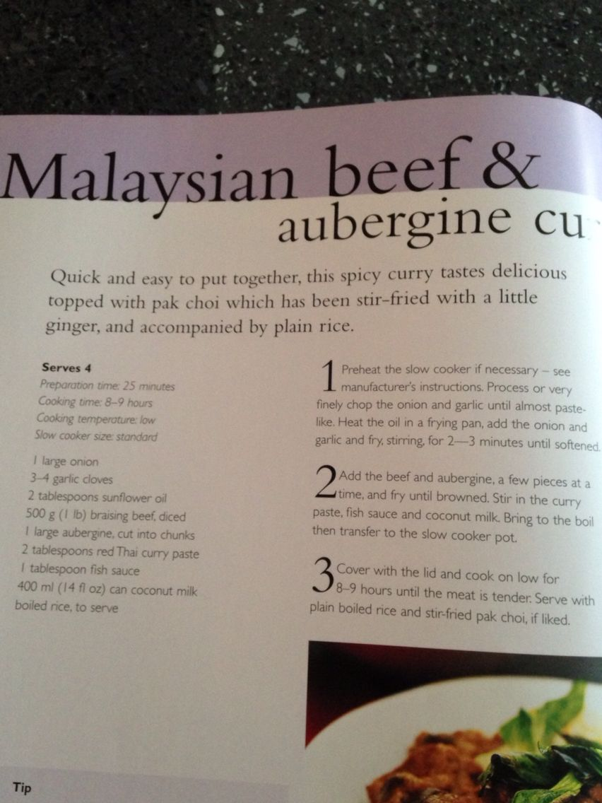 Malaysian beef and aubergine curry
