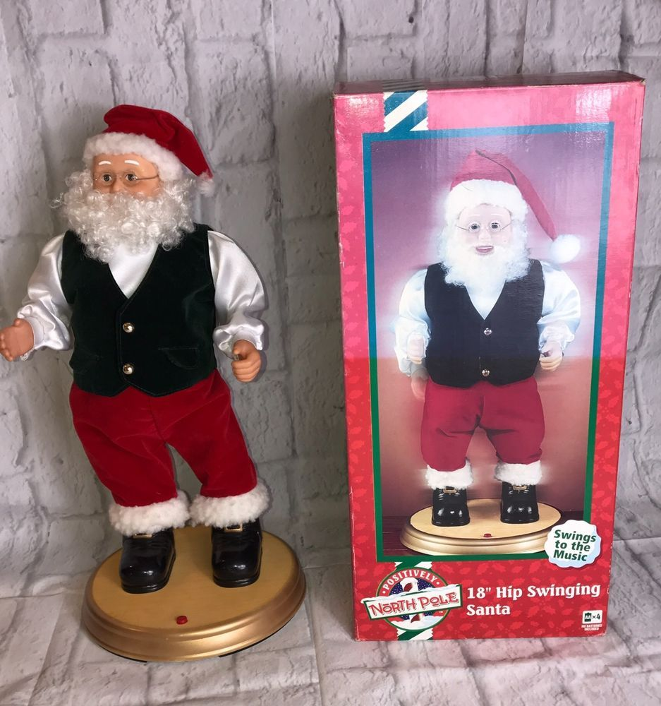 """1999 Gemmy North Pole 18"""" Hip Swinging Santa Swings To The Music Collectible   Collectibles, Holiday & Seasonal, Christmas: Current (1991-Now)   eBay!"""