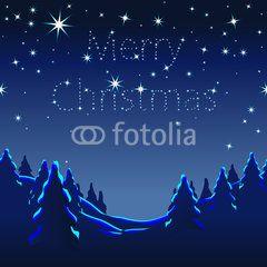 Vektor: Merry Christmas, Weihnachtskarte, international