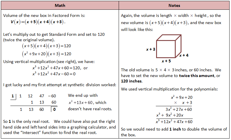 Another Polynomial Word Problem – Function Word Problems Worksheet