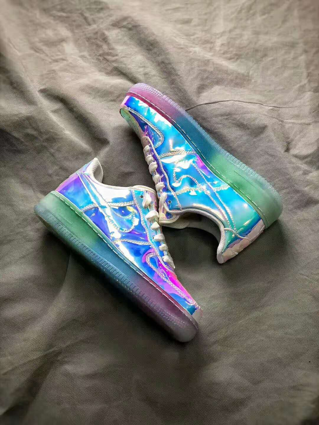 Nike Air Force 1 Low ID Iridescent Nike Shoes Pinterest