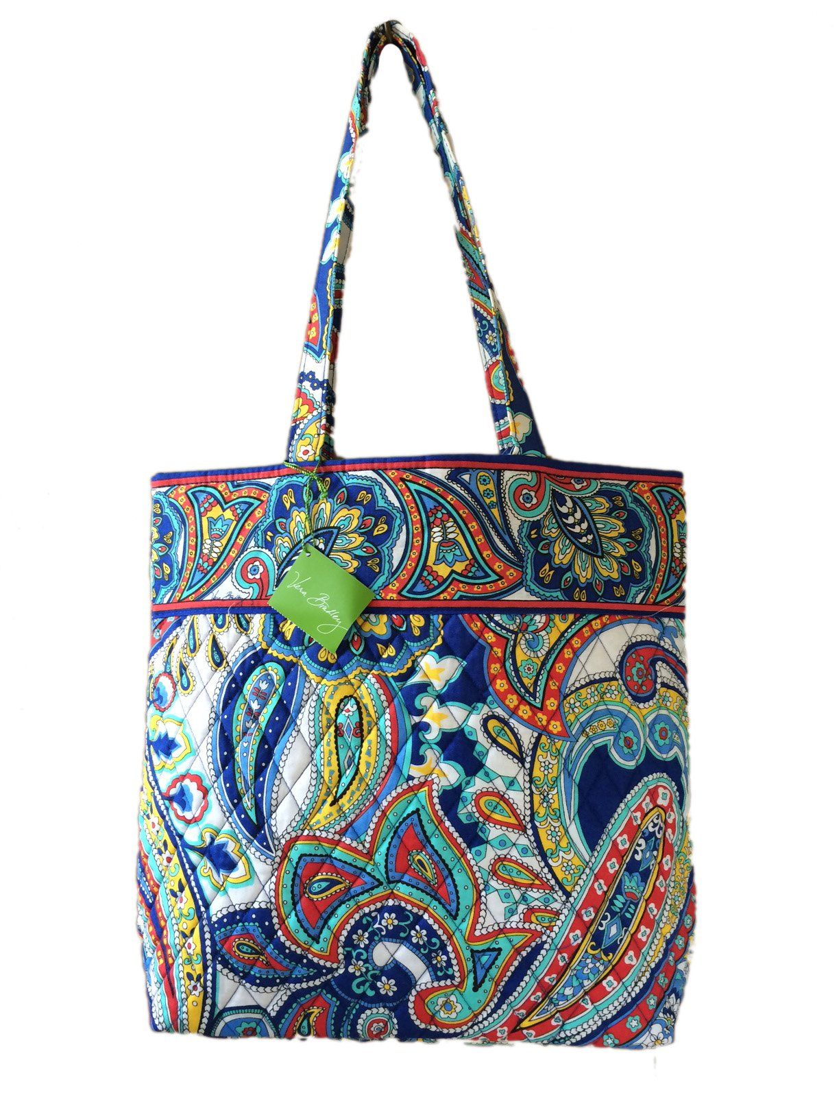 Vera Bradley Tote in Marina Paisley with Solid Pink Interior