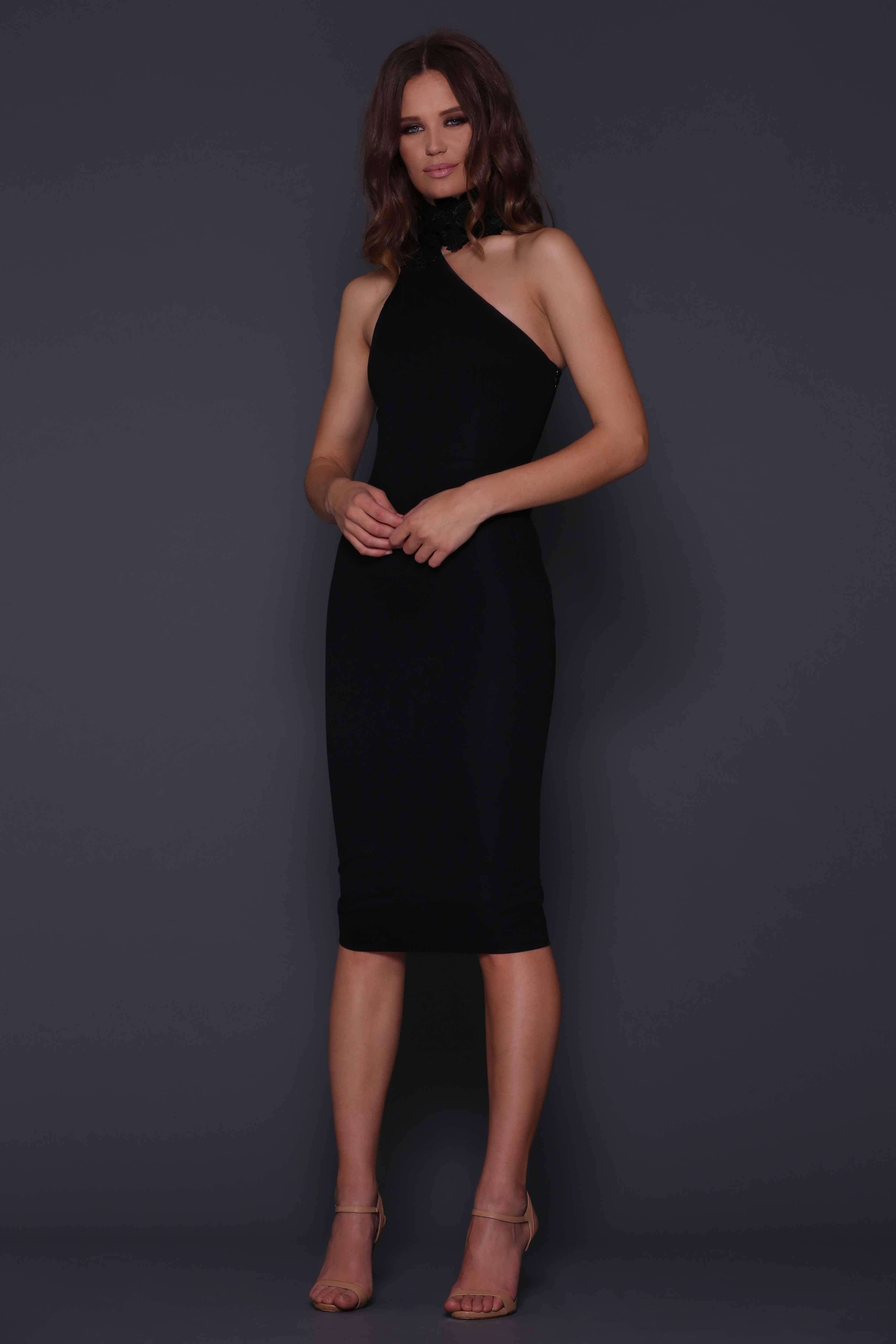 Black dress elle - Elle Zeitoune Harpers Black