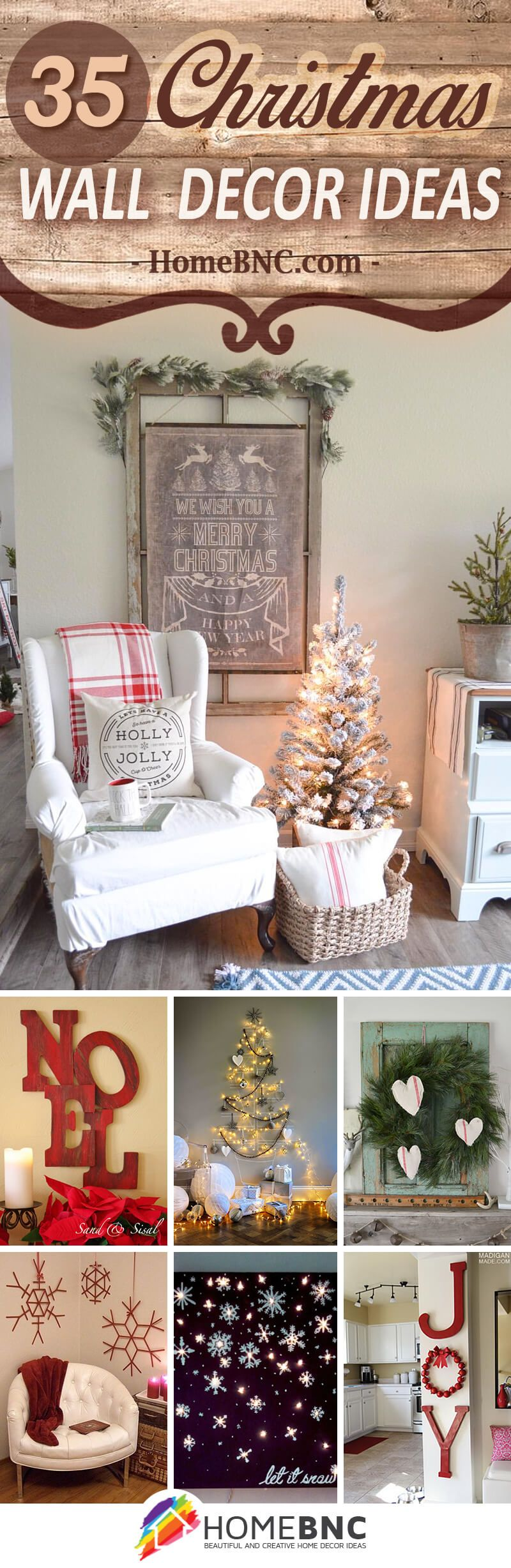 35 Festive Christmas Wall Decor Ideas that will Instantly ...