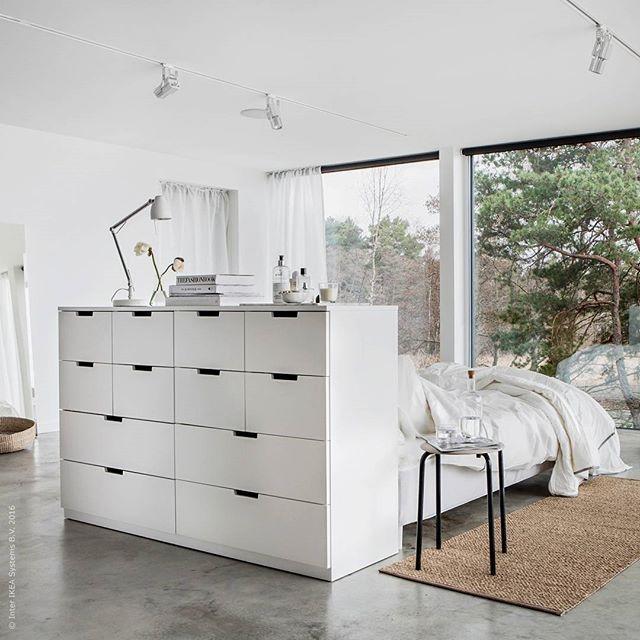 ikea cabinets as bedhead