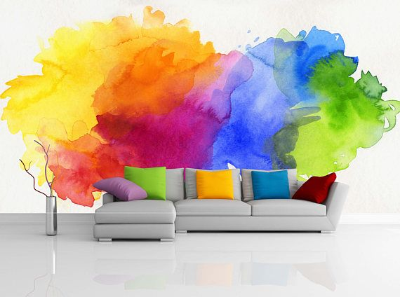 Bright Rainbow Colored Watercolor Paints Removable
