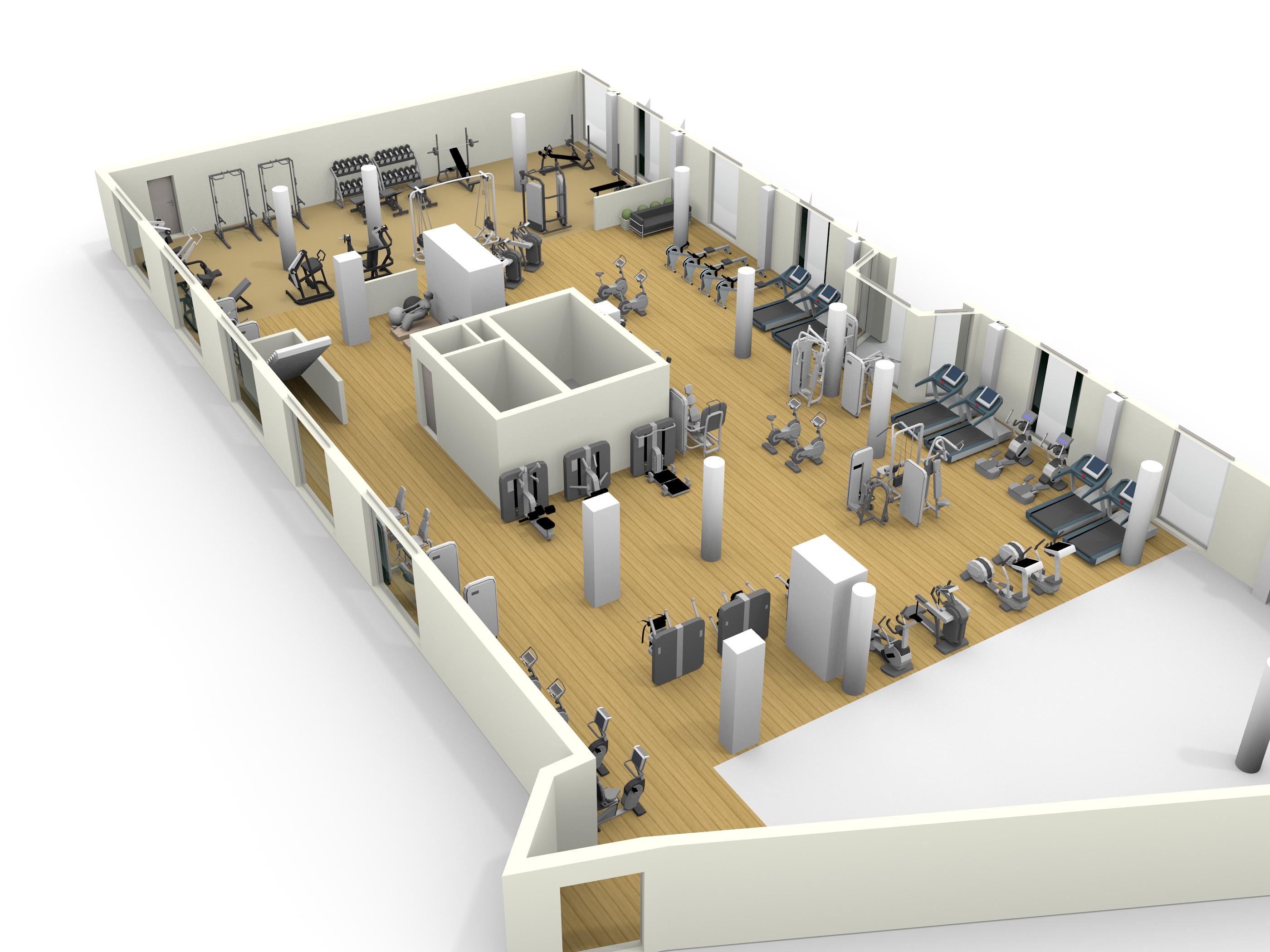 3d Rendering Of A Floor Plan Made With Floorplanner Com Interior Rendering Floor Plans Spatial Concepts