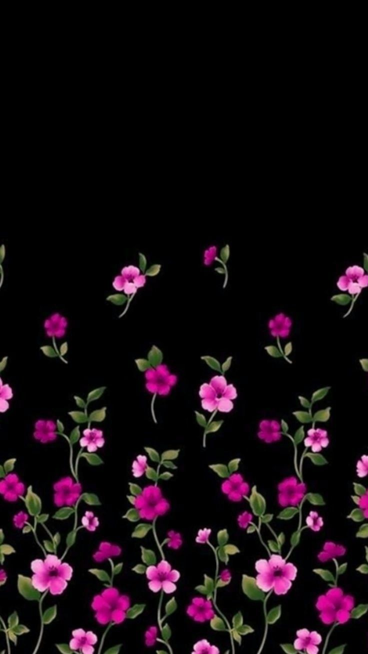 Black and pink flowers qhirin in 2018 pinterest wallpaper black and pink flowers mightylinksfo