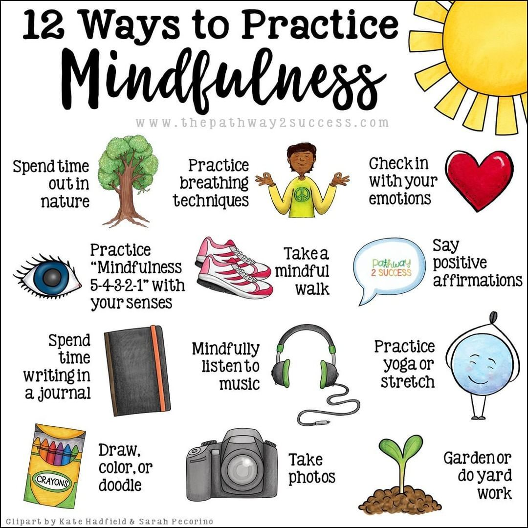 Find a way to practice mindfulness for yourself. I