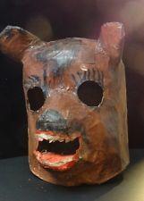 Scary Big Bad Wolf Or Bear Vintage Paper Mache Halloween Costume Head Mask Vintage Halloween Costume Scary Halloween Costumes Vintage Costumes