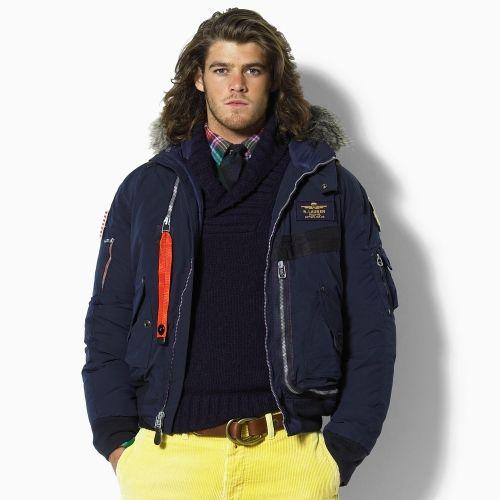 2040 Ralph Lauren para hombre con capucha de nylon Down Parka