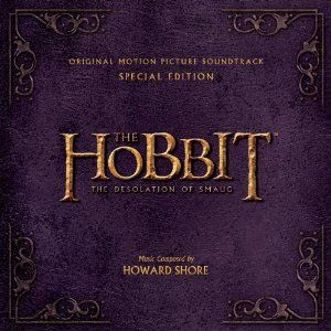 The Desolation of Smaug soundtrack... I love that the hobbit soundtracks are following the same colored leather theme of the LOTR extended dvd cases!