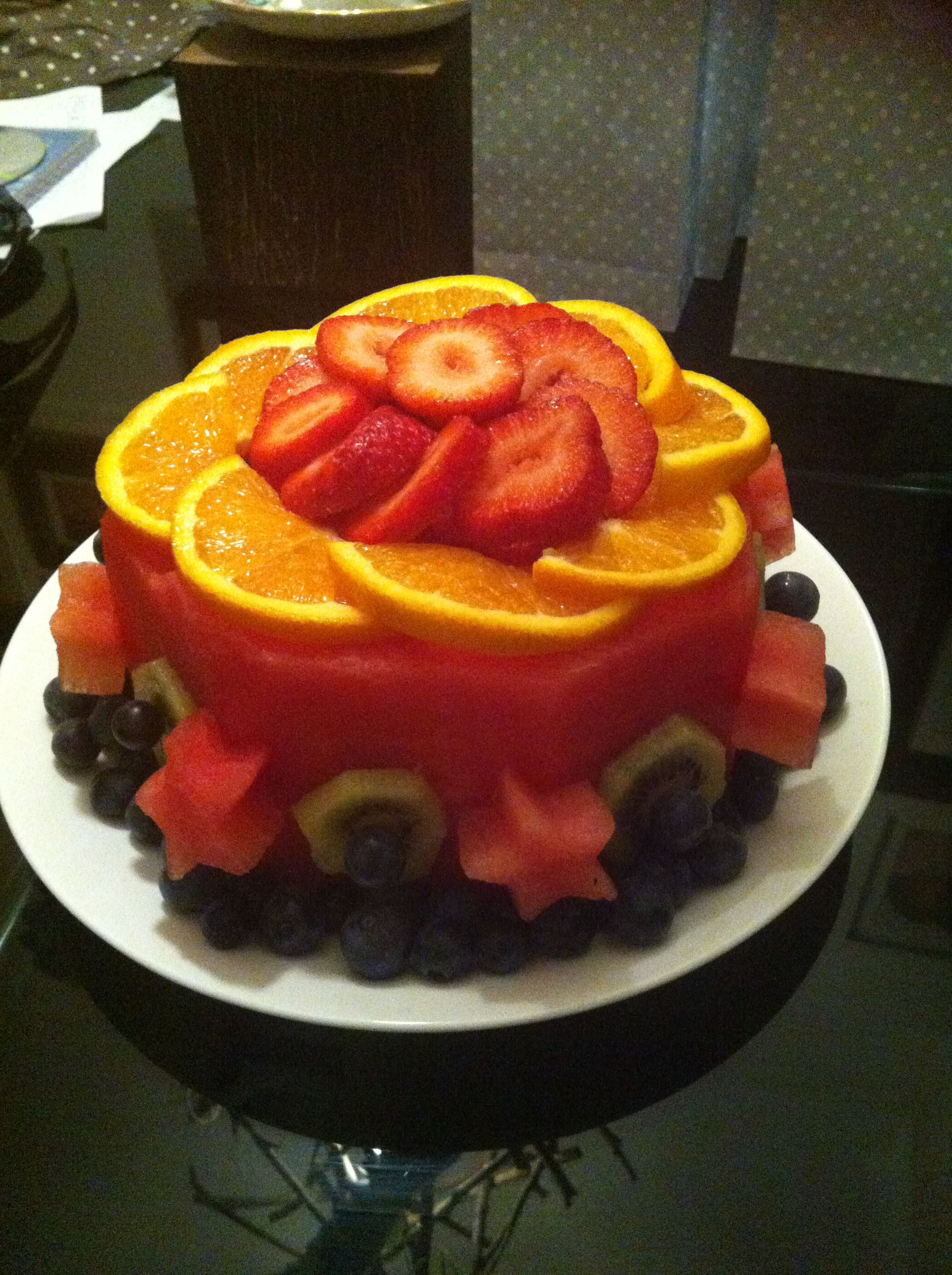 Frankies fruit cake watermelon base Perfect for summer