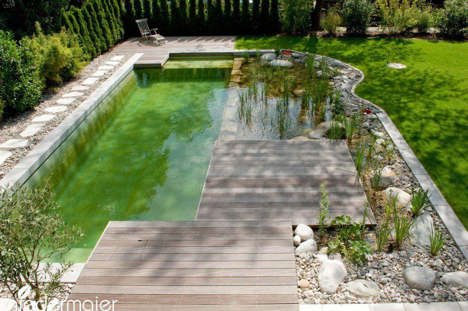 Schwimmteich im Genießergarten - Gartendesign backyard Pinterest