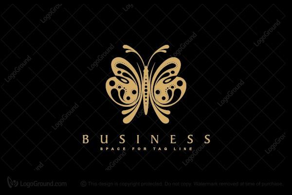 Golden Butterfly Logo Butterfly Logo Butterfly Honey Logo