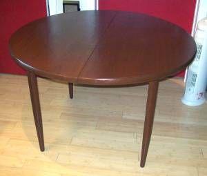 "45"" Walnut round table with dark stain made in Sweden ..."