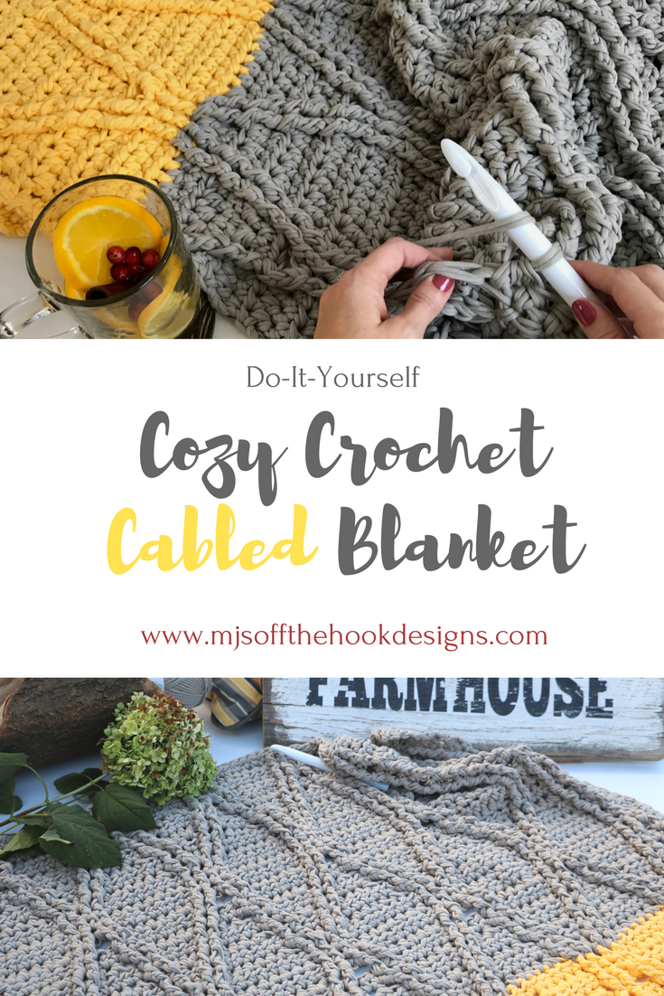 FREE Crochet Bulky and Quick Cabled Blanket | Manta, Trapillo y ...