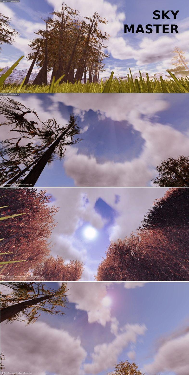 Sky Master is a Dynamic Sky, Weather, Volumetric Cloud - Lighting