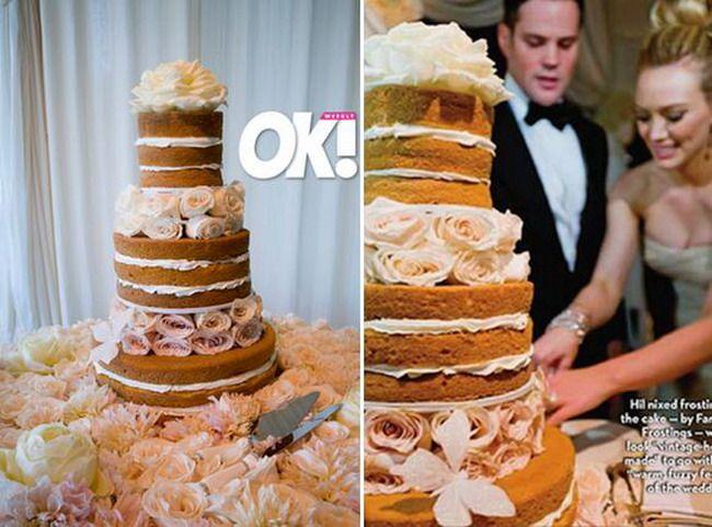 Hilary Duff wedding cake | borrow something blue | Pinterest ...