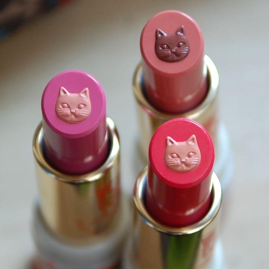 PAUL & JOE Café Parisien, Café Expresso, Coffee Cherry lipsticks and Caramel Drizzle eyeshadow review