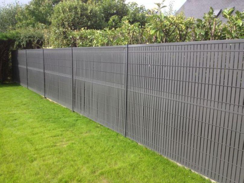 clôture grillagée avec occultation pvc Jardin Pinterest - palissade en pvc jardin
