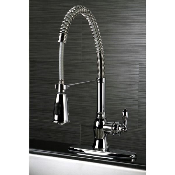 American Classic Modern Chrome Spiral Pull down Kitchen Faucet by