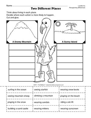 worksheet comparing landforms landforms landforms worksheet science classroom social. Black Bedroom Furniture Sets. Home Design Ideas