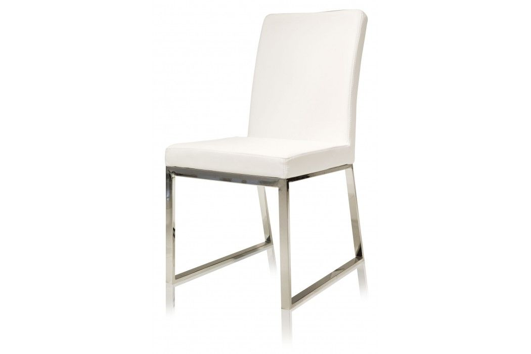 Niero Armless Modern Dining Chair White | Modani