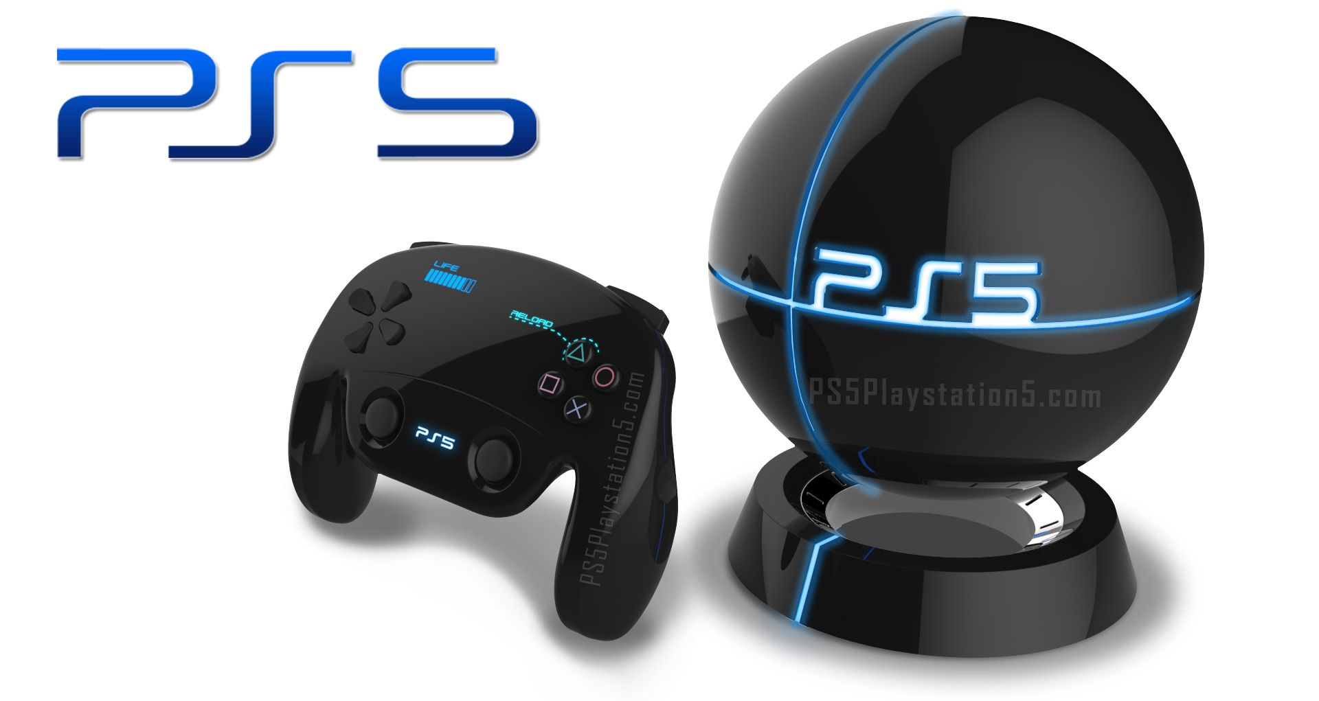 Epic Ps5 Levitating Design With Controller Playstation 5