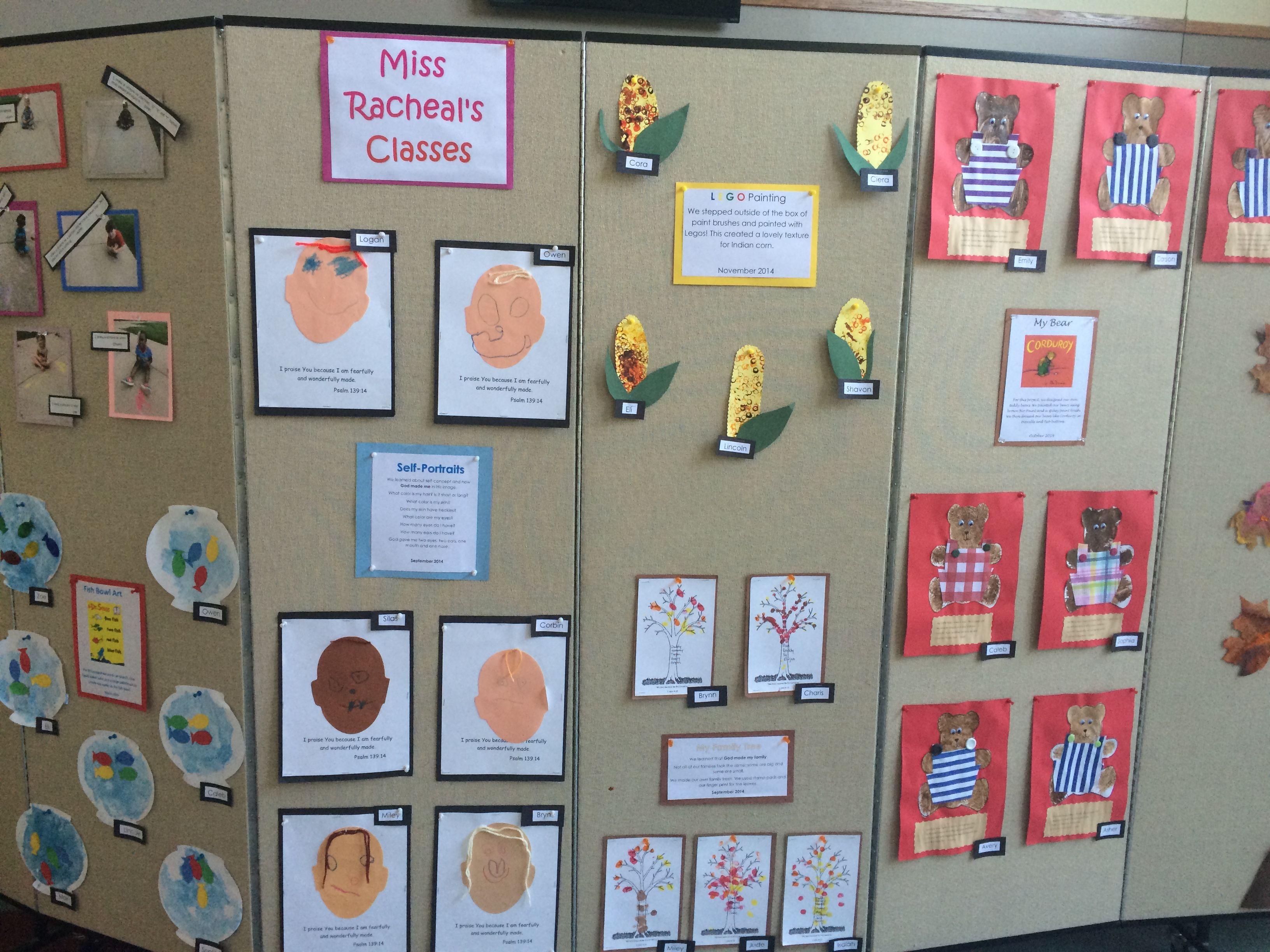 Preschool Graduation Art Display