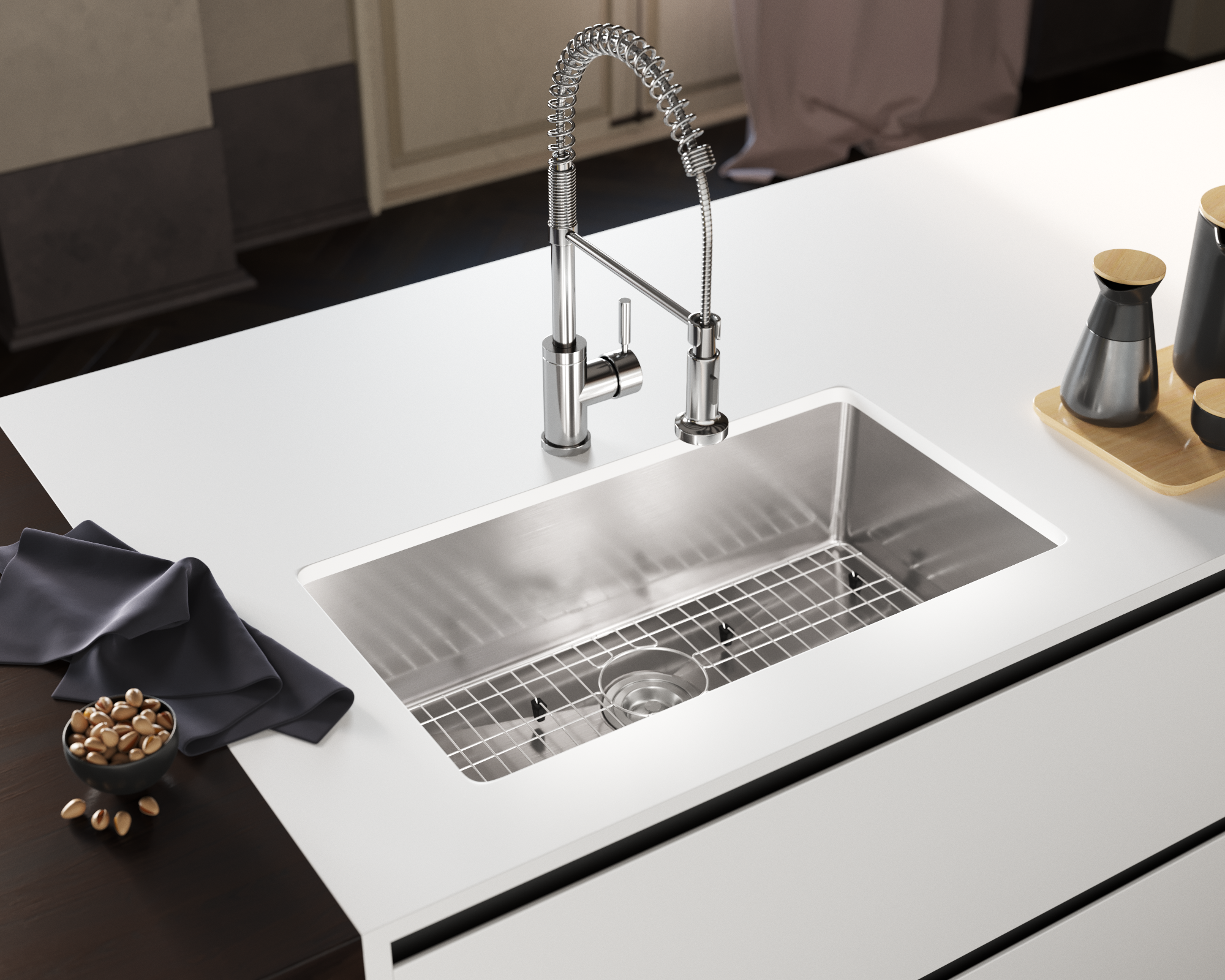 All Included Stainless Steel Sink Grid Is Perfect For Cooking Whether It S For Two Or For A Small Gathering Discover The Sink Sink Grid Stainless Steel Sinks